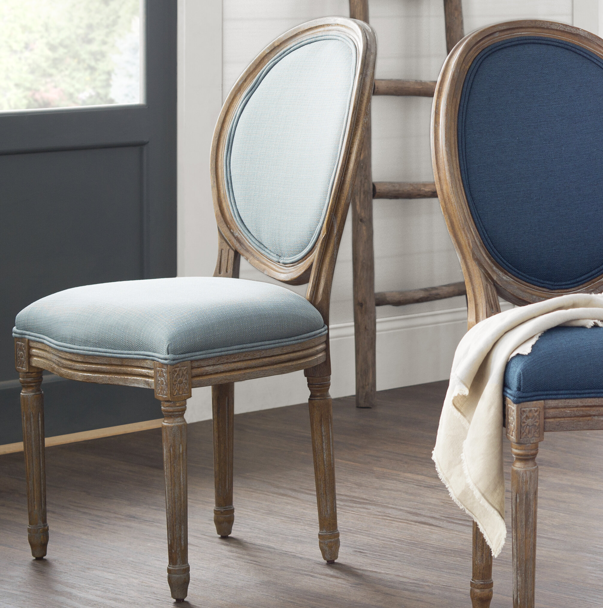 Ave six lilian oval back upholstered dining chair reviews wayfair ca