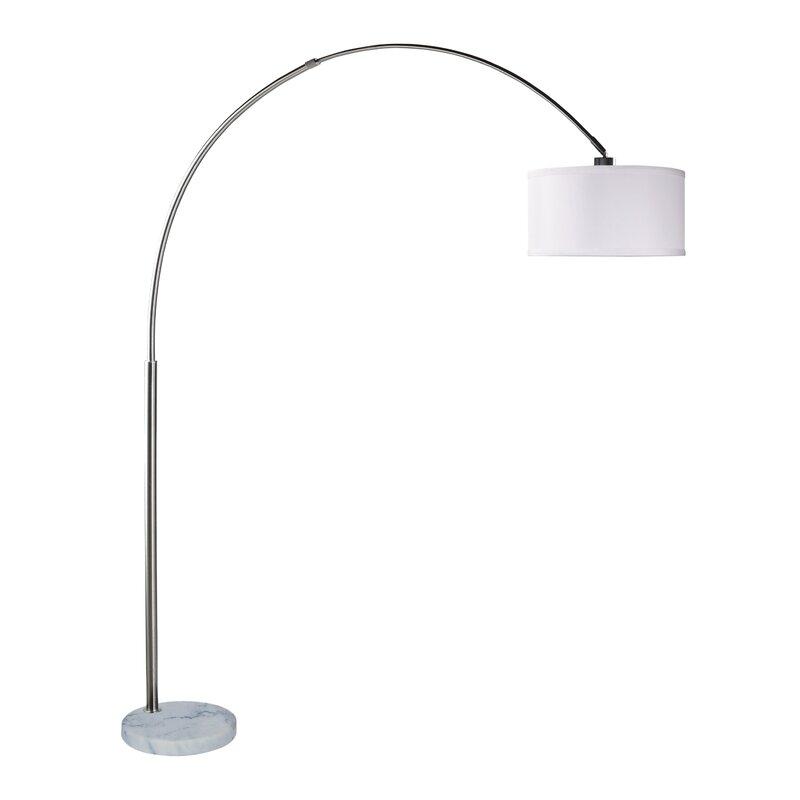 Adjustable Steel 81 Quot Arched Floor Lamp Amp Reviews Allmodern