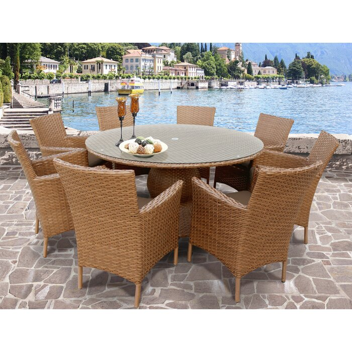 piece hampton metal chili set patio with oak outdoor cliff dining sets cushions p bay