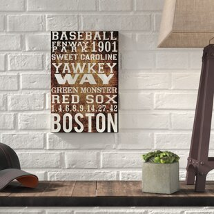 u0027Boston Red Soxu0027 Textual Art on Wrapped Canvas & Boston Red Sox Wall Art | Wayfair