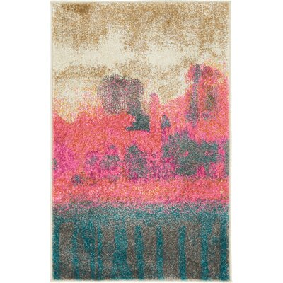 Wrought Studio Wynn Traditional Pink Area Rug Rug Size: Rectangle 2' x 3'