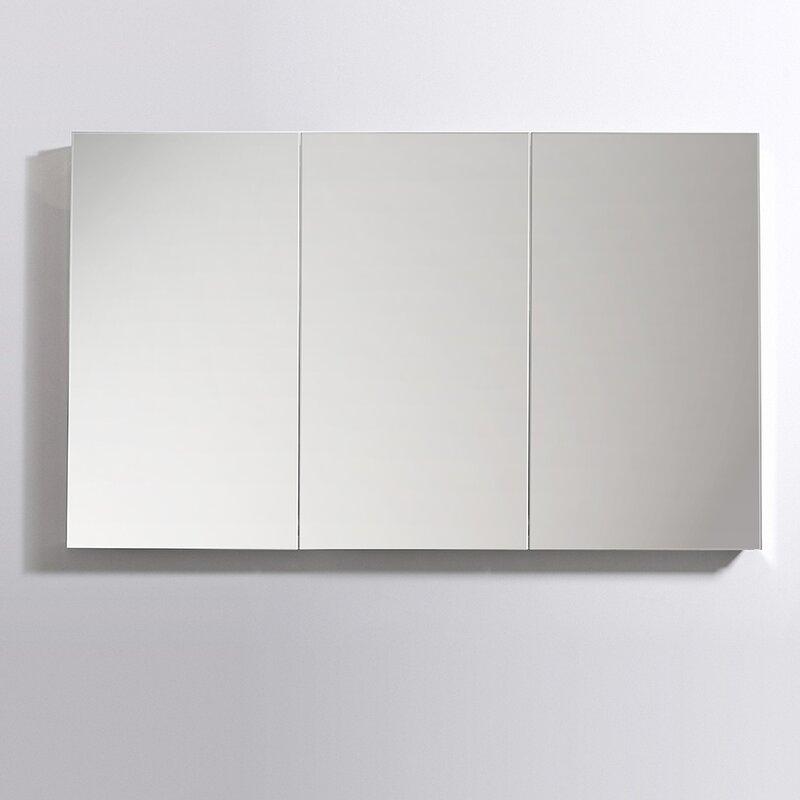 Senza Recessed Or Surface Mount Framed Medicine Cabinet With 8 Adjustable  Shelves