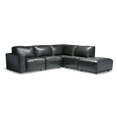 Modern Leather Modular Sectionals Allmodern