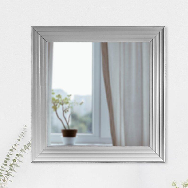 Winston Porter Vertical Square Plastic Framed Wall Mirror   Wayfair