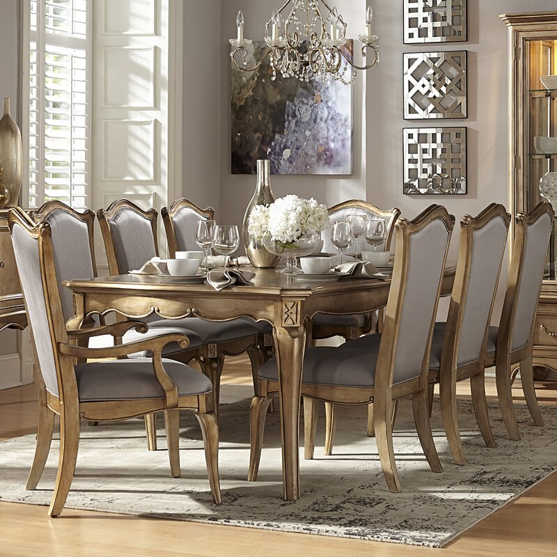 9 piece dining room set with buffet table square belaire white furniture kitchen sets default name