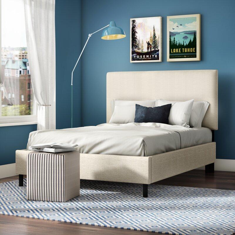 Charlton Home Bronwood Upholstered Panel Bed