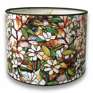 Stained Gl Printed Designer Hard Back 10 Paper Drum Lamp Shade