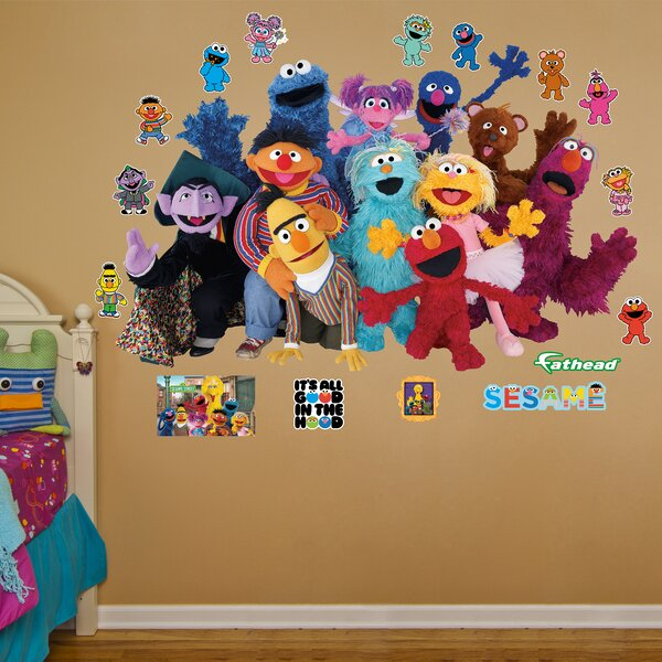 Fathead RealBig Sesame Street Group Wall Decal & Reviews | Wayfair