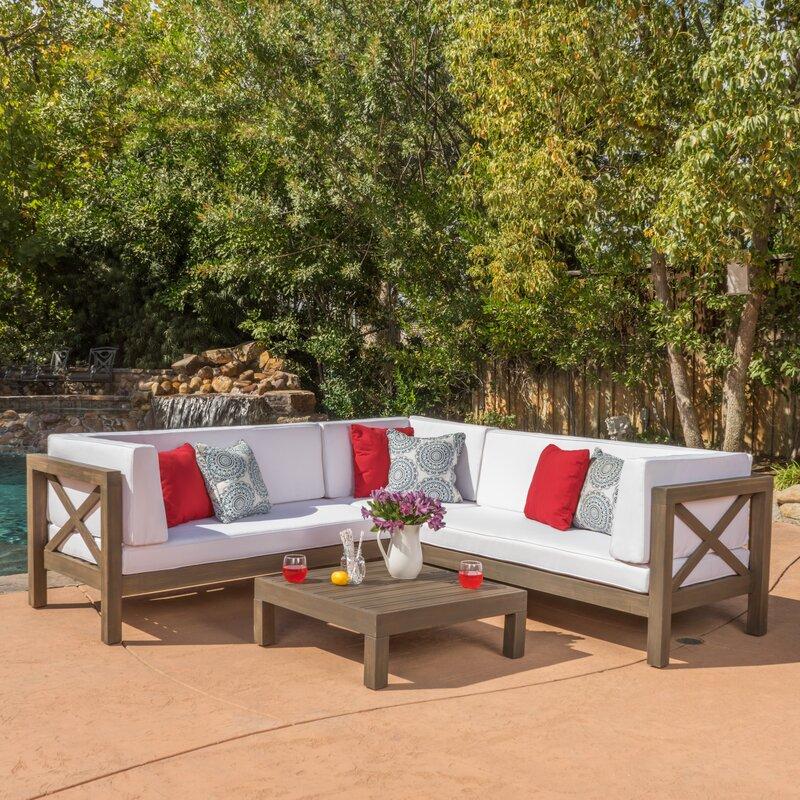 Lark Manor Lejeune 4 Piece Sofa Set With Cushion Amp Reviews
