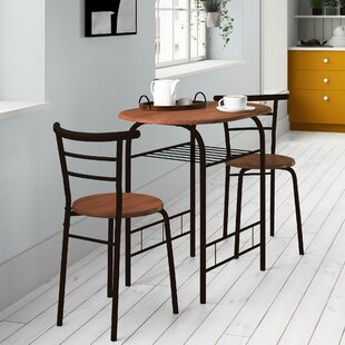 Volmer 3 Piece Compact Dining Set Cool