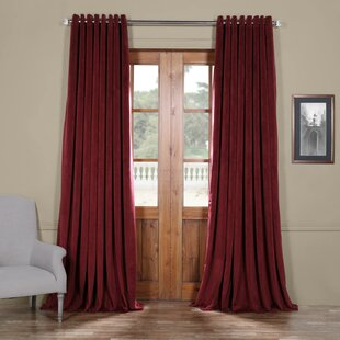 Relatively Burgundy Velvet Curtains | Wayfair LO89