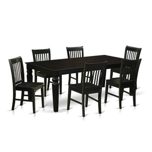 Beesley 7 Piece Rectangular Wood Dining Set by Darby Home Co