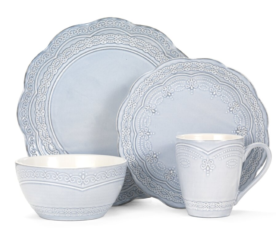 Serephina 16 Piece Dinnerware Set Service for 4  sc 1 st  Wayfair : artistic accents dinnerware - pezcame.com