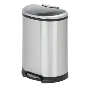 Stainless Steel 13.2 Gallon Step On Trash Can