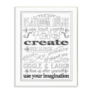 Peter Playroom Rules DIY Coloring Wall Art  sc 1 st  Wayfair & Playroom Rules Sign | Wayfair