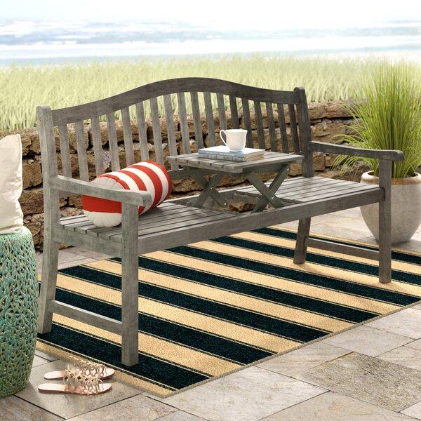 Beachcrest Home Volusia Wooden Garden Bench & Reviews ...