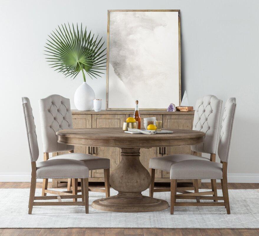 One Allium Way Panton Pine Dining Table & Reviews | Wayfair