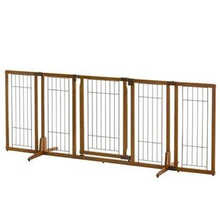 Merveilleux Wide Premium Plus Freestanding Pet Gate With Door