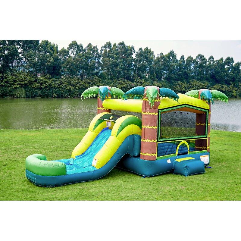 a772b2ed4 JumpOrange Tropical Athletic Bounce House