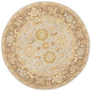 Anatolia Hand-Tufted Teal/Brown Area Rug