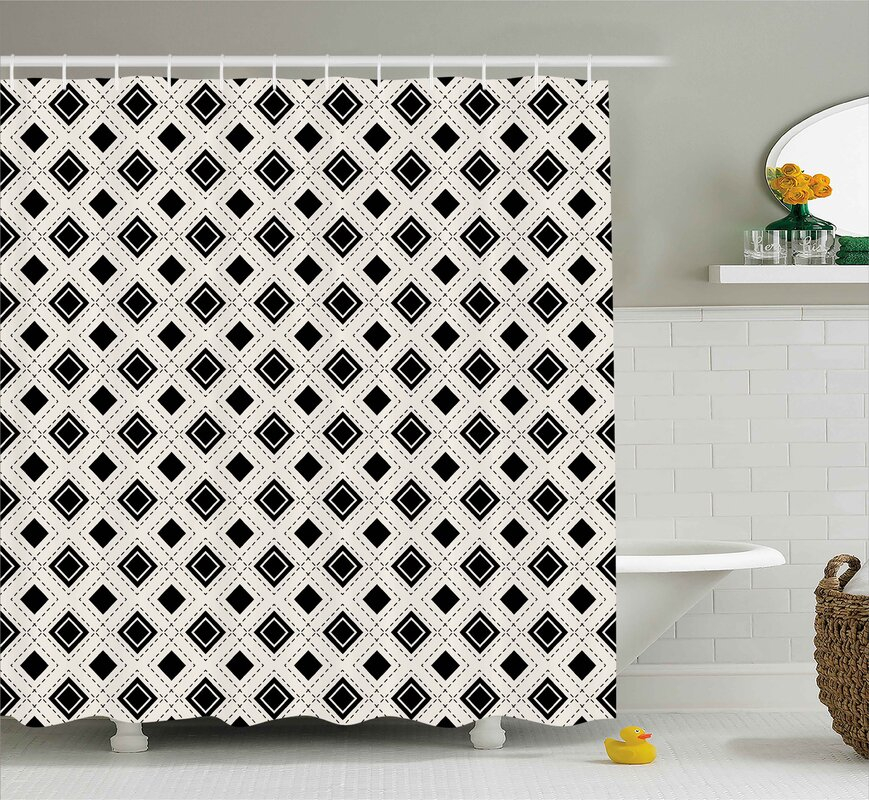 Square Dots Shower Curtain & Reviews | AllModern