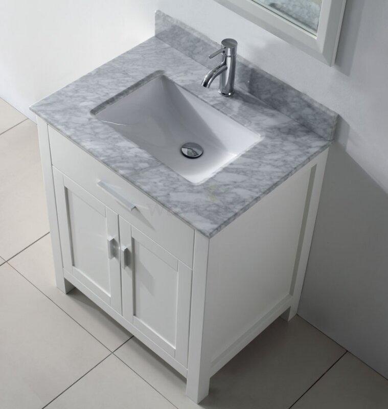 Bauhaus Bath Celize 30 Single Bathroom Vanity Set With Mirror Reviews Wayfair