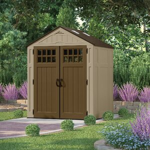 Everett 6 ft. 3 in. W x 5 ft. 5 in. D Plastic Tool Shed