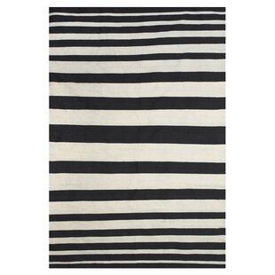 Iver Hand-Loomed Black/White Indoor/Outdoor Area Rug ByMack & Milo
