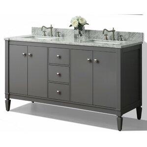 60 in double sink vanity. Kayleigh 60  Double Bath Vanity Set Vanities You ll Love Wayfair