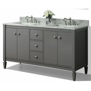 60 inch vanity with double sink. Kayleigh 60  Double Bath Vanity Set Vanities You ll Love Wayfair