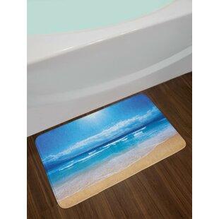 Beach Seascape Theme Bath Rug