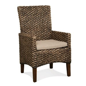 Woven Seagrass Arm Chairs (Set of 2) by B..