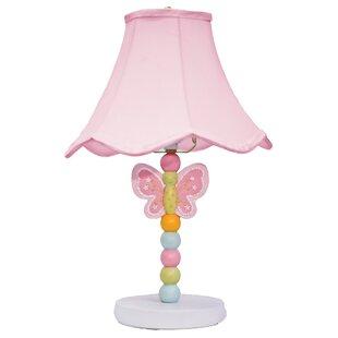 Pink nursery lamp wayfair wings nursery 16 table lamp aloadofball Gallery