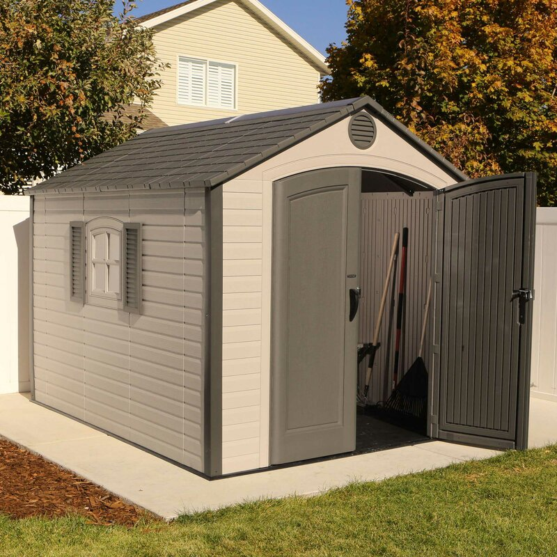 7 ft 8 in w x 9 ft 8 in d plastic - Garden Sheds 7 X 9
