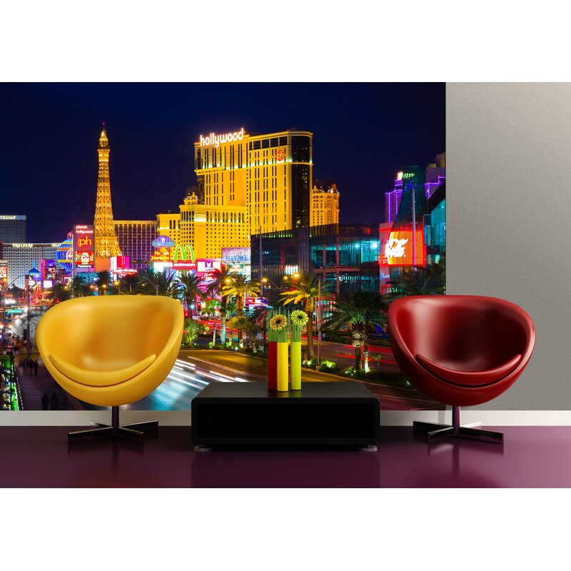 East Urban Home Las Vegas Strip Casino Hotels at Night Non Woven