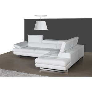 Summers Leather Reclining Sectional by Wade Logan