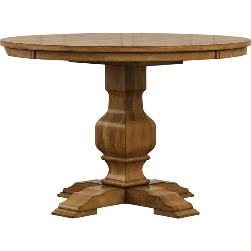 Three Posts Fortville Solid Wood Dining Table Amp Reviews