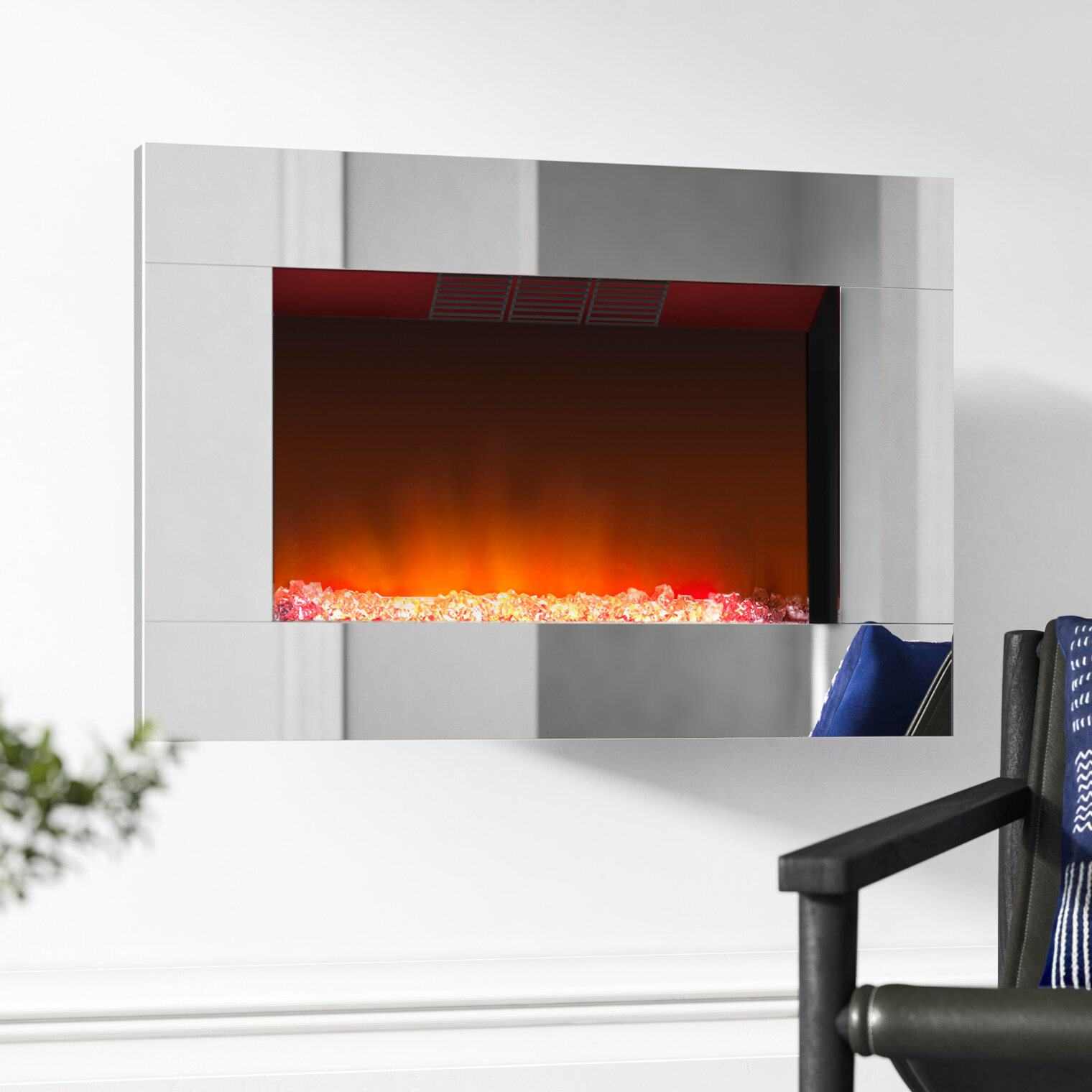 Diamantique Wall Optiflame Electric Fireplace