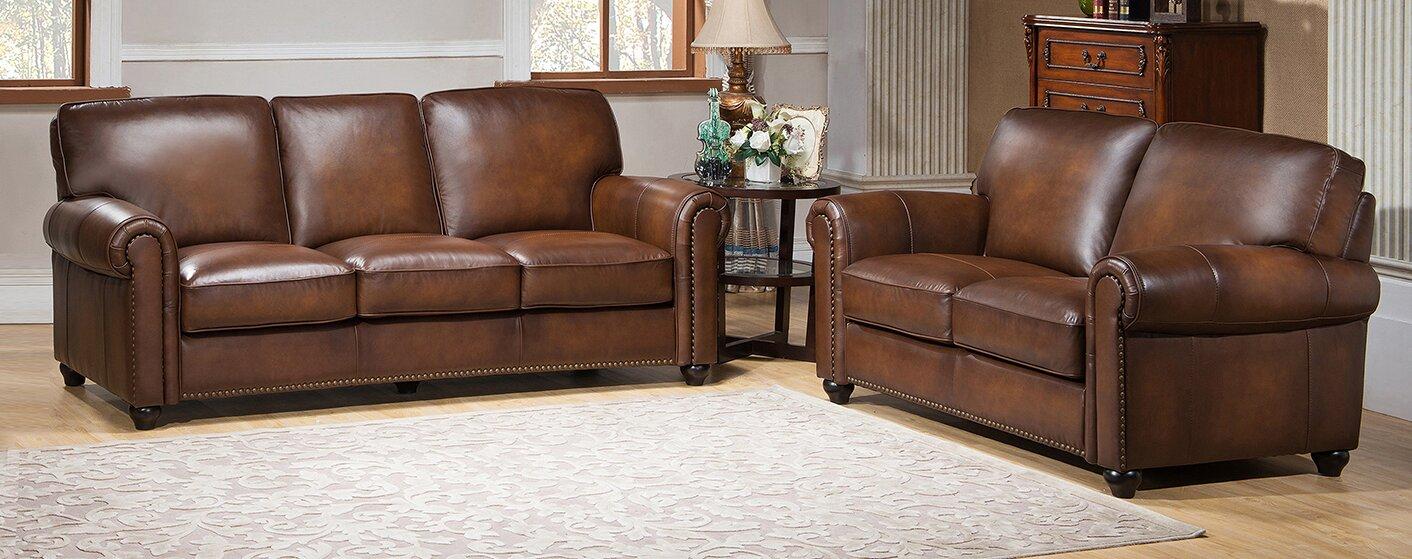 Amax Aspen 2 Piece Leather Living Room Set Reviews