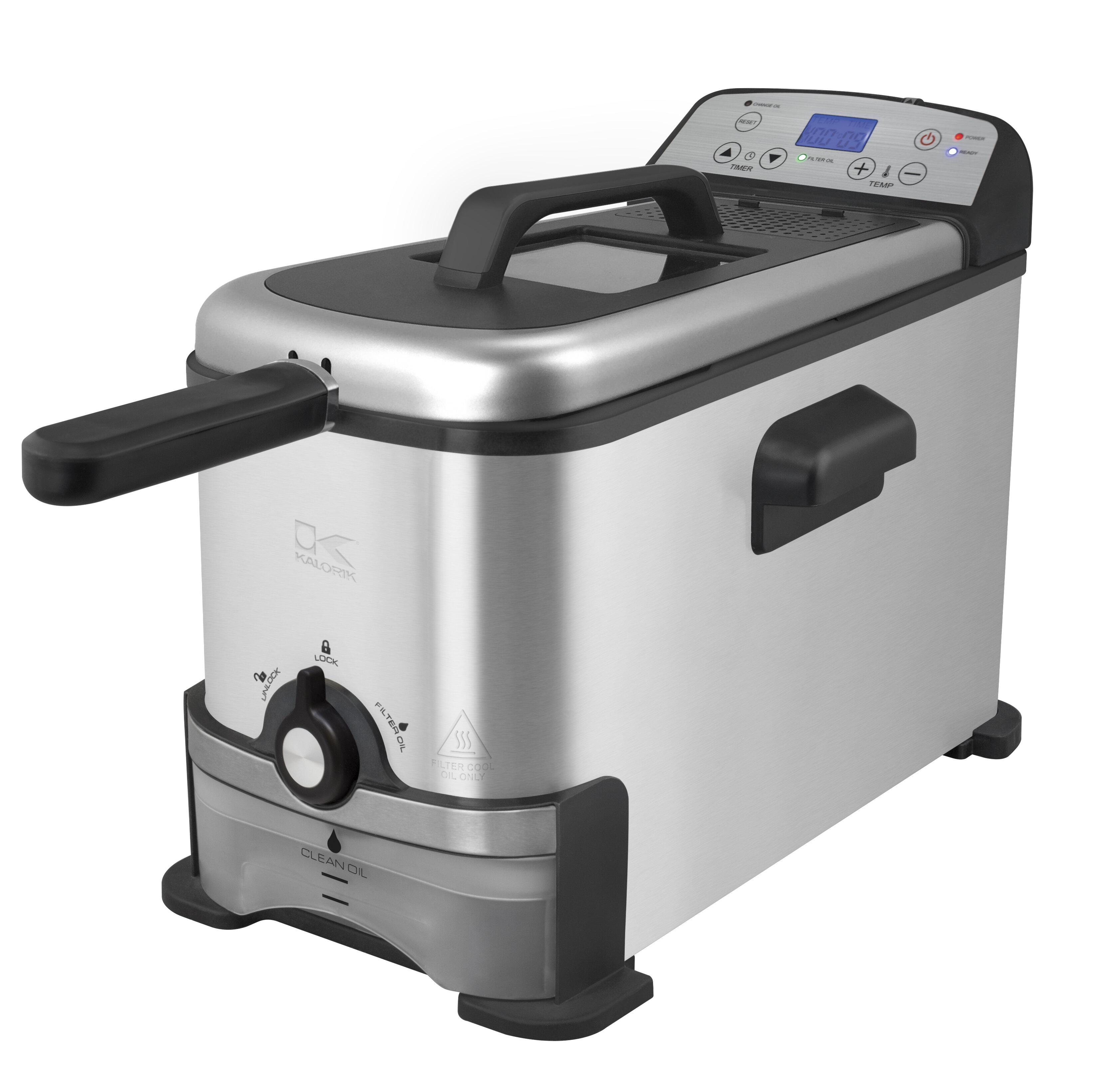 cf4b895605d Kalorik 4.5 Qt. Digital Deep Fryer with Oil Filtration