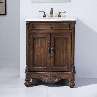 Vanities Trustful 27 Inch Bathroom Vanity Single Sink Base White Shaker Modern Double Door Cabinet Without Return