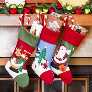 3 piece christmas stocking set set of 3