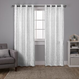 whiteford distressed metallic print paisley thermal grommet curtain panels set of 2