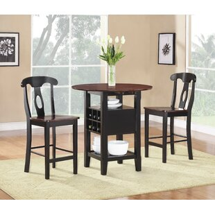 Strope 3 Piece Dining Set  sc 1 st  Wayfair & Seats 2 Kitchen u0026 Dining Room Sets Youu0027ll Love | Wayfair