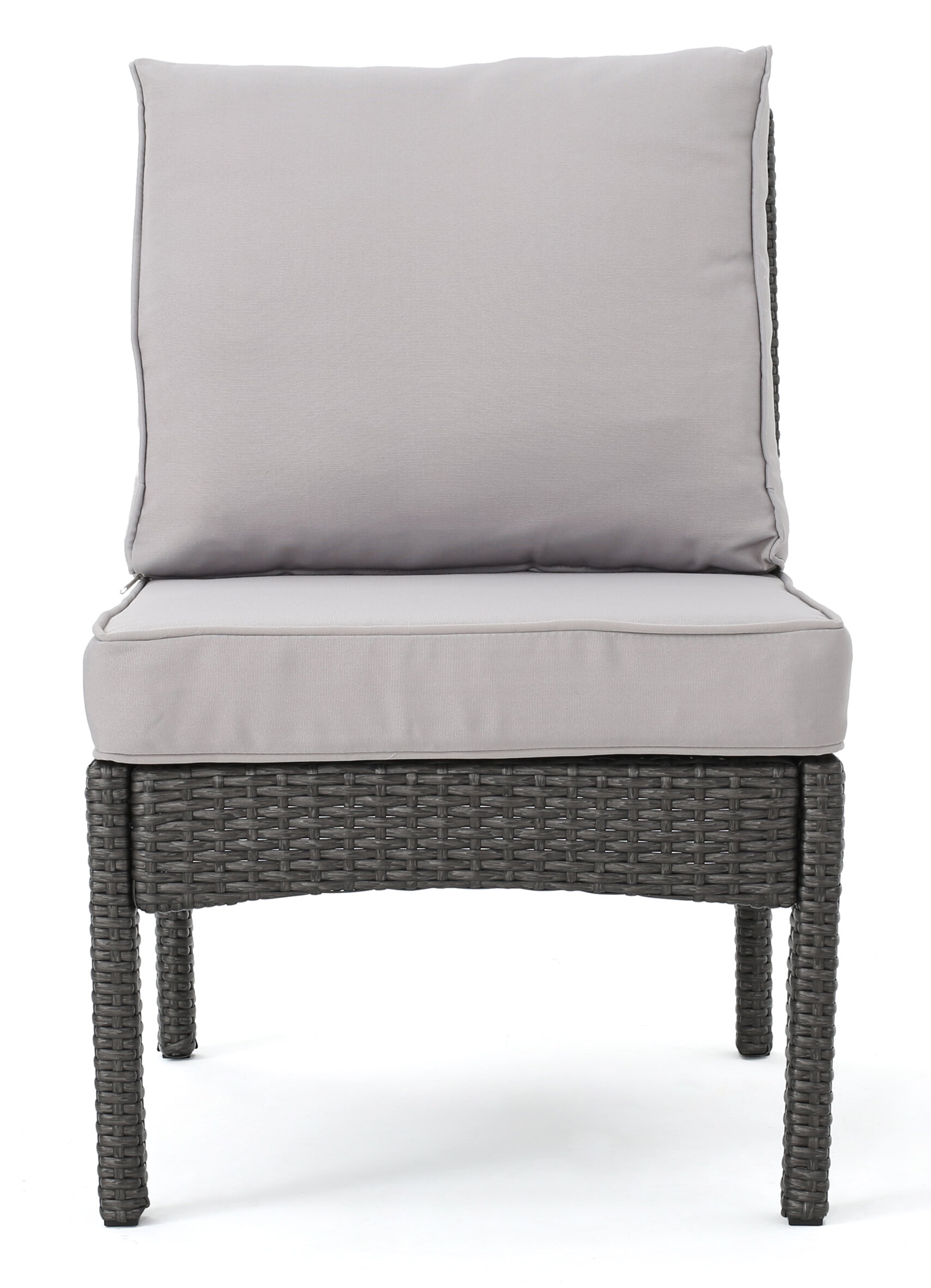 Darby Home Co Dia Outdoor Wicker Armless Sectional Sofa Seat With Cushions Wayfair