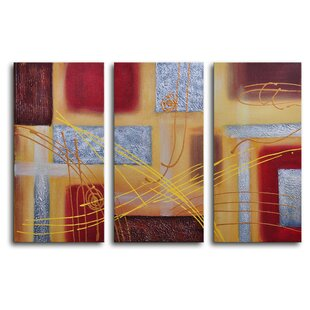 3 piece canvas art custom conducting piece wrapped canvas art set wayfair