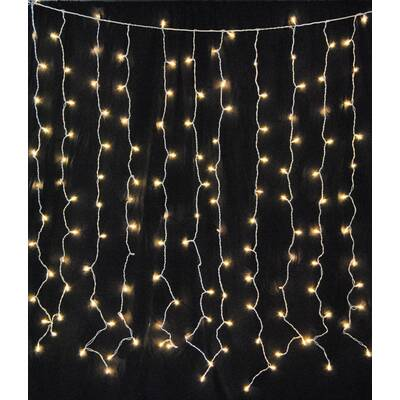 The Holiday Aisle Mini Curtain String Light Reviews