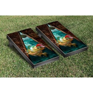 Bass Fishing Cornhole Game Set