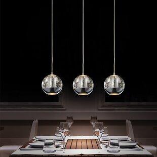 Kitchen island lighting perrier 3 light kitchen island pendant by cwi lighting aloadofball Gallery