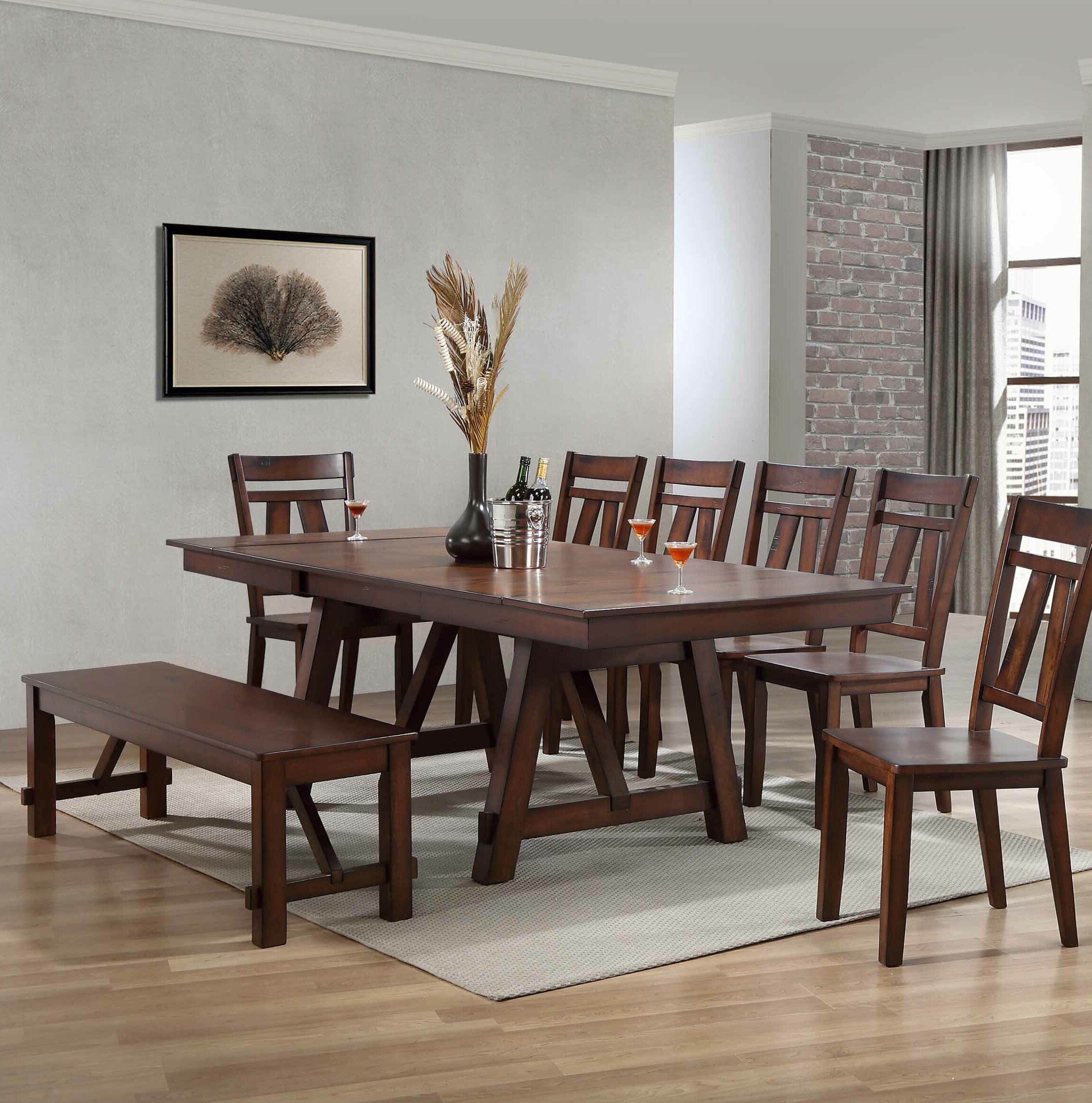 Keturah 6 Piece Extendable Dining Set
